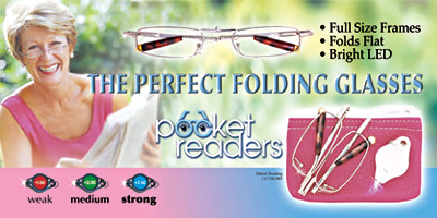 Pocket-Readers - The Perfect Folding Glasses